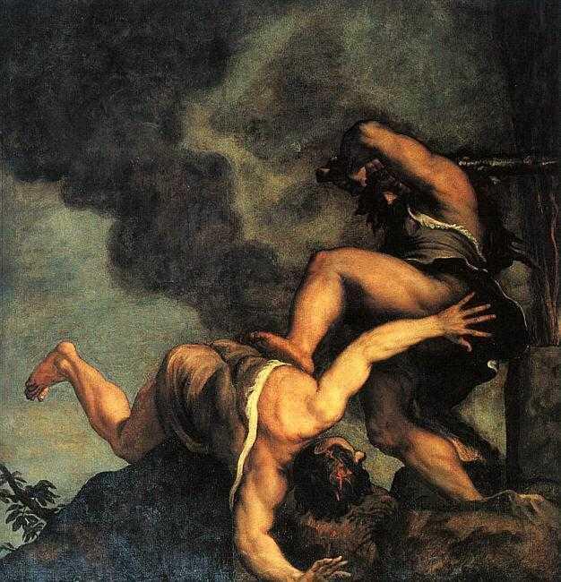 Caïn et Abel, par Le Titien